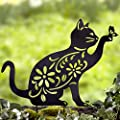 LTD Cat Silhouette Stake for Yards, Gardens - Outdoor Shadow Decoration