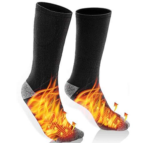 Carenoble Heated Socks Battery Included - Thermal Socks for Men & Women - Electric Heating Socks for...
