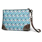 Carteras Women's Leather Wristlet Clutch Wallet Stork Carrying Child Purse Phone Handbags Card For Travel Party Wedding Shopping