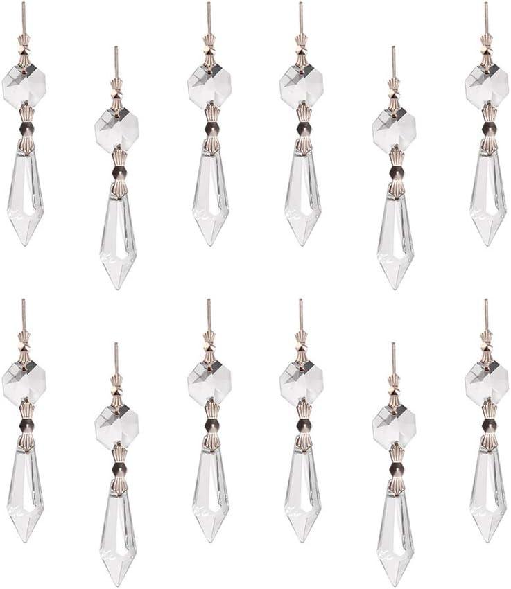 Transparent Healifty Cristal Larme Lustre Prisme Pendentifs Gla/çon Cristal Perles Capteurs Solaires pour Lumi/ère Lampe Rideau Bricolage Artisanat 20 Pcs