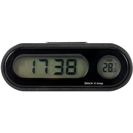 TTAototech Auto Uhr Auto Digitaluhr Thermometer Auto Digitaluhr mit Thermometer Mini Fahrzeug Armaturenbrett Uhr Innendekor Armaturenbrett Ornament