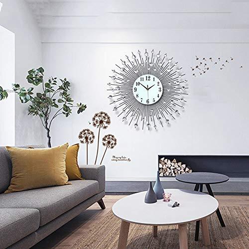 BYEON Timelike Crystal Wall Clock - Celebration Decorative Metal Wall Clock (23.6 Inch, Linear Radiation)