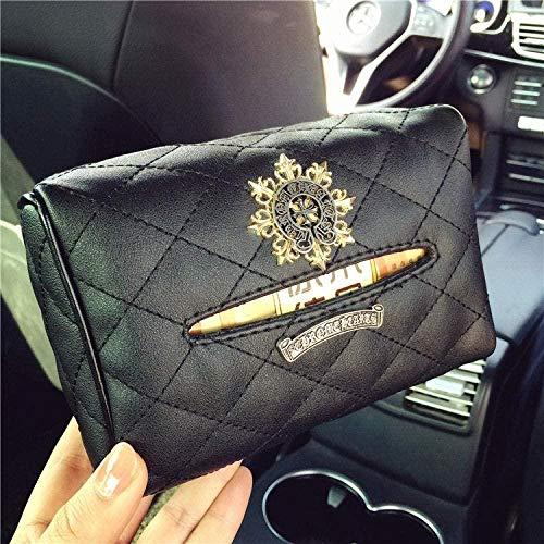 HZDHM tissue box Car Seat Back Sun Visor Tissue Box Set For Car In-Car Tissue Box Napkin Pumping Bag For Men And Women-Star Munch-ring