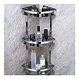 QingH yy Pared Cesta de Ducha Ducha Cesta con Ganchos de Acero Inoxidable 304 Estante de la Esquina Cocina for Guardar Accesorios de baño de perforación de 30 cm YueB ABG (Color : 3 Tiers)