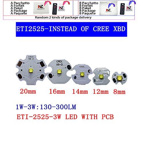 10 stücke 3 Watt Nation Star 2525 SMD High Power LED diode Chip licht emitter Kühlen Neutral Weiß Warmweiß anstelle von CREE 2525 XB-D le,white 6500k,With 20mm pcb
