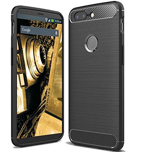 tomaxx Silikon für Huawei Y7 2018 Schutzhülle Carbon Silikon Hülle Tasche schwarz