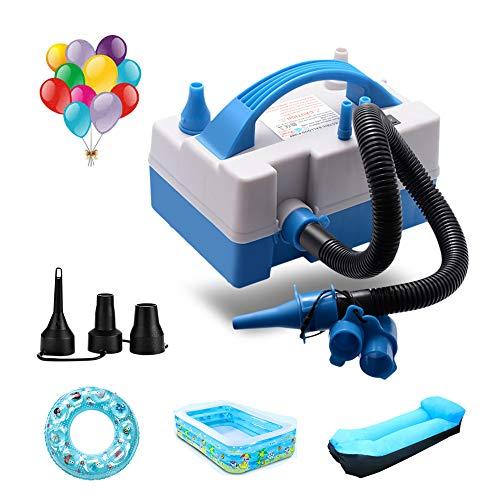 Ballonpumpe, Ballon-Inflator, elektrischer Ballon-Gebläse-Inflator mit Mehrzweck-Schlauchverlängerung, tragbarer Ballon-Inflator mit Düsen für aufblasbare Couch, Schwimmbecken, aufblasbares Spielzeug