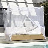 FREILUFTRAUM großes Moskitonetz für Doppelbett mit Zwei Öffnungen I Mückenschutz Baldachin...