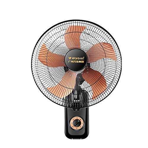 Wandventilator, elektrischer Haushaltsventilator zur Wandmontage, mechanischer Ventilator mit leisem beweglichem Kopf (dritte Geschwindigkeit / 1,6 m Stromleitung)