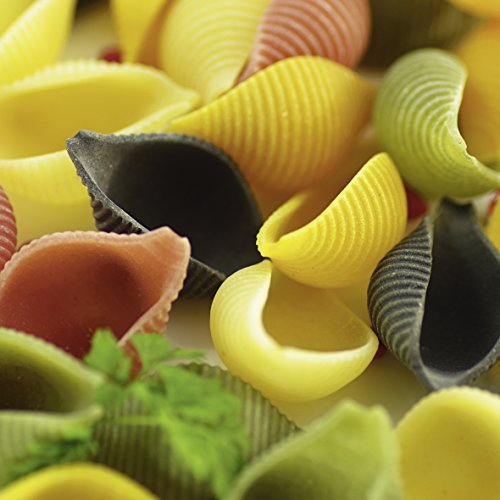 Artland Qualitätsbilder I Wandtattoo Wandsticker Wandaufkleber 100 x 100 cm Ernährung Genuss Getreide Nudeln Foto Bunt B9YU Bunte Pasta