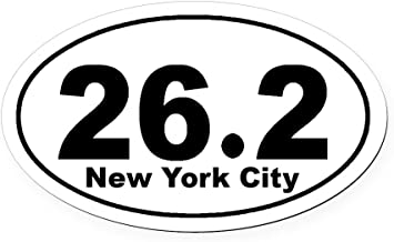 CafePress 26.2 New York City Marathon S Oval Car Magnet, Euro Oval Magnetic Bumper Sticker