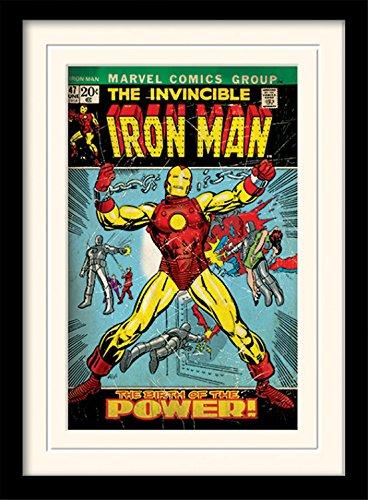 1art1 Iron Man - Birth of Power Gerahmtes Bild Mit Edlem Passepartout | Wand-Bilder | Kunstdruck Poster Im Bilderrahmen 40 x 30 cm