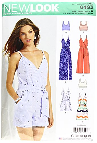 New Look Pattern 6493 Misses' Jumpsuit and Dress in Two Lengths with...