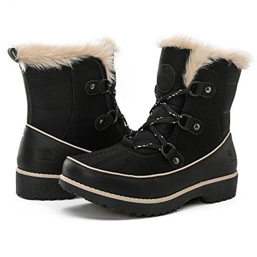 GlobalWin Women's 1728 winter boots (8 (M) US Women's, 1728black)