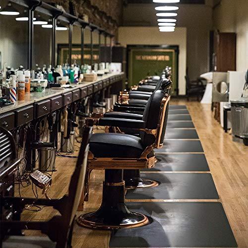 """Salon mats for Hair Stylist 3'x5' Barber Shop Salon Floor Chair Mat - Black Square Anti-Fatigue Floor Mat -1/2"""" Thick Office Comfort Floor Mat"""
