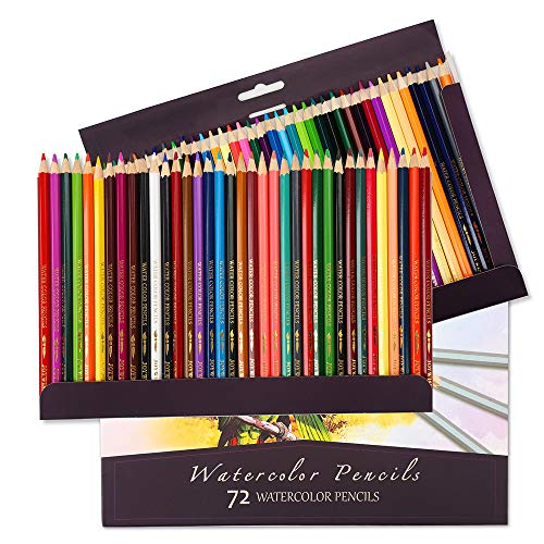 Wilshin Colored Pencils 73 Count Set Watercolor Pencils for Adults and Kids