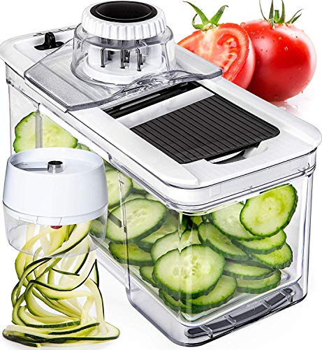 Prep Naturals Adjustable Mandoline Slicer with Spiralizer