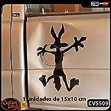 Custom Vinyl Vinilo para Bollos Coyote (Diseño registrado) (Plata, S - 9,5x9,5cm)
