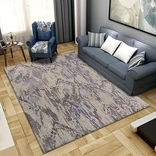 alfombras habitacion,Alfombra roja marrón, fácil de Comprar Unas cuantas alfombras Minimalistas Modernas ,Alfombra para Exterior -Gris marrón_100x120cm