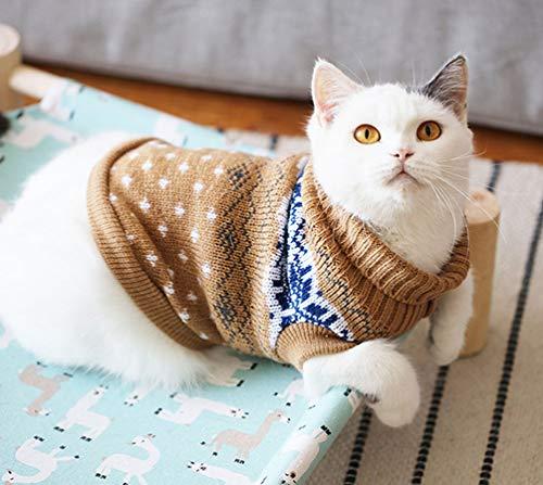 Katzenbekleidung Pullover für Kätzchen kleine Hunde Katzen Winter Strickkleidung Warm Weich und Hoch Stretch, Fit Haustier Männlich Weiblich