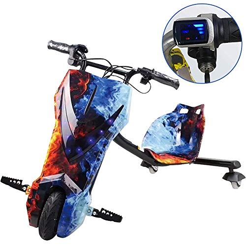 Elektro Motor Dreirad Elektrisches Dreirad Für Kinder Drift Trike Mit Coolem LED-Scheinwerferdesign ABS-Material, Mit Doppeltem Gang Kinder Jungen Und Mädchen, Ages 6 Years+,Blau