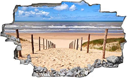 Fotografie Nordsee Strand Sand Wandtattoo Wandsticker Wandaufkleber C1674 Größe 40 cm x 60 cm