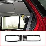 SLONGK Para BMW X5 E70 X6 E71 2008-2013, 2 Piezas de Fibra de Carbono para Coche, Fila Trasera, lámpara de Lectura, Marco, Accesorios de Ajuste