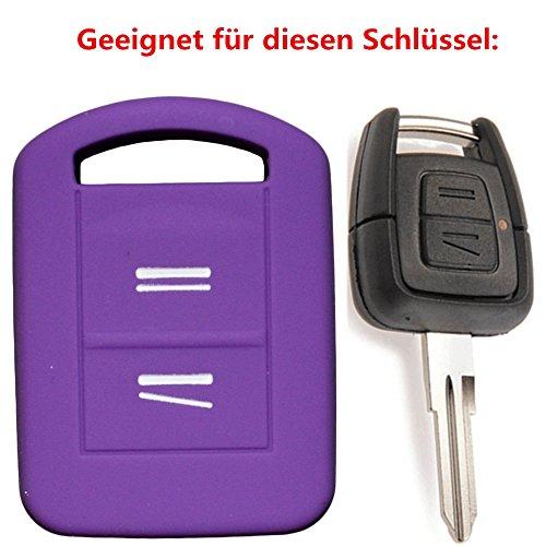Tuqiang®für Opel Corsa 1PC Lila 2 Tasten Silikon Autoschlüssel Schlüsselcover