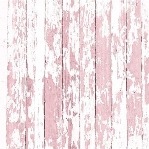 YongFoto 3x3m Vinilo Fondo de Fotografia Shabby Chic Weathered Peeled Color Paint Stripes Wood Floor Telón de Fondo Fiesta Niños Boby Boda Adulto Retrato Personal Estudio Fotográfico Accesorios
