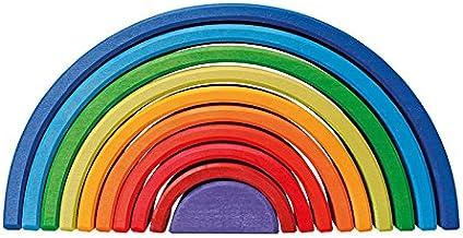 Grimm's Wooden Rainbow Sunset - 10 Pieces