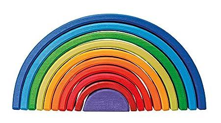 Grimm's Spiel und Holz Design Regenbogen 10 teilig