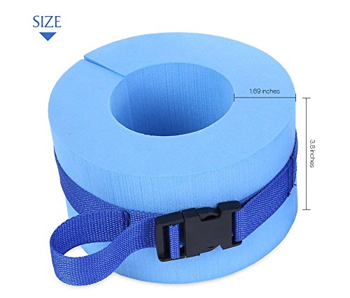 Affordable Beher 2Pcs Aquatic Cuffs Swimming Helper Foam Ankles Arms Exercise Cuffs for Water Aerobi...