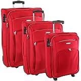 Samsonite Set de Equipaje Atolas, 3Piezas, Rojo (Rojo) - 42380/1726