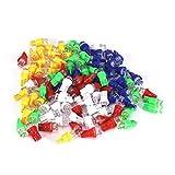 Bombillas para coche, 100 piezas T10 158194168 W5W Bombillas LED para coche Lámpara multicolor Blanco Azul Rojo Ámbar Verde