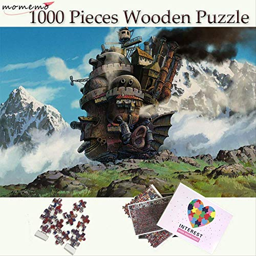 NOBRAND Howl's Moving Castle Wooden Puzzle 1000 Pieces Customized Jigsaw Puzzles Toys Adults Teenagers Kids Cartoon Puzzle Games
