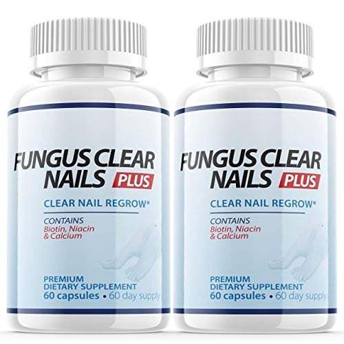 (2 Pack) Fungus Clear Nails Plus Clear Nail Regrow (120 Capsules)