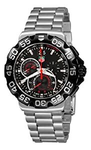 TAG Heuer Men's CAH1010.BA0860 Formula 1 Grande Date Chronograph Black Dial Watch image