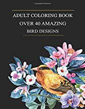 Over 40 Amazing Bird Designs: An Adult Coloring Book Featuring Over 40 Easy Large Print Patterns For Stress Relieving, Fun, Calm and Relaxation