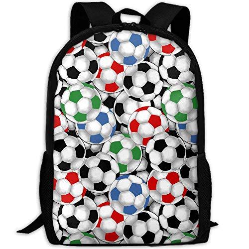 best& Vintage Soccer Balls College Laptop Backpack Student School Bookbag Rucksack Travel Daypack
