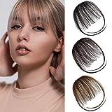 Remy Clip in Bangs Human Hair Front Fringe Air Bangs Hair Extensions Bang Hair Clips for Women Natural Black