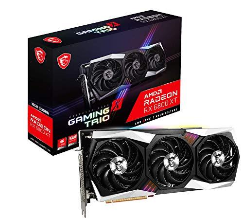MSI Radeon RX 6800 XT GAMING X TRIO 16G Scheda grafica '16GB GDDR6, RGB Mystic Light, AMD, 3x DisplayPort, HDMI, Tri Frozr 2 Ventole Sistema di Raffreddamento