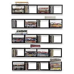 "top 10 cool dvd shelves You-Have-Space Wall Bracket, 34 "", Media Storage Rack, CD / DVD Organizer, Floating Metal Shelf, …"