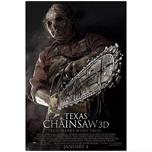 Lefgnmyi Texas Chainsaw 3D-Film Horror Gore Leatherface Art Poster Leinwandmalerei Home Decor Poster und Drucke -20x32 IN No Frame