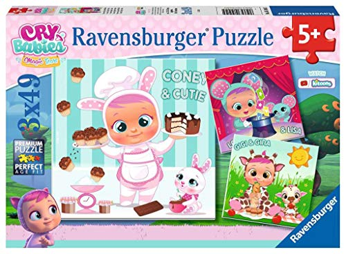 Ravensburger Cry Babies Puzzle 3 x 49 Piezas, Multicolor (05104 5)