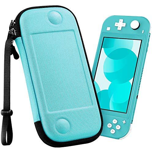 Fintie Funda Portátil para Nintendo Switch Lite 2019 - [Súper Fina] Carcasa Rígida a Prueba de Golpes Bolsa Protectora con 8 Ranuras para Tarjetas y Correa de Mano para Consola, Turquesa