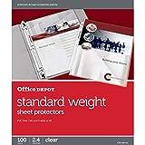 Office Depot par le haut protecteurs de feuilles, poids Standard, clair, boîte de 100, Od03035by Office Depot