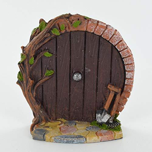 Miniature Violet Hobbit Porte – Arbre Décoration de jardin Intérieur – Fun Quirky Elf, Pixie, fée figurine cadeau – –
