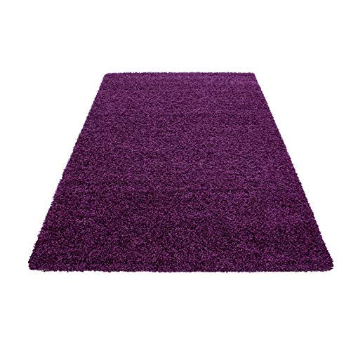 Knuffelig tapijt XL Shaggy woonkamertapijt slaapkamertapijt vloerkleed vloerkleed 120x170cm |2,04m2 lila | Z1761