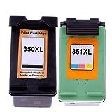 Merotoner - Cartuchos de tinta para HP 350 XL 351XL HP Deskjet D4260 D4263 D4268 D4360 D4363 D4368