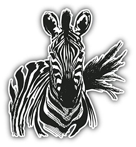 Zebra Sketch Animal Art Decor Vinyl Sticker Aufkleber 12 x 12 cm